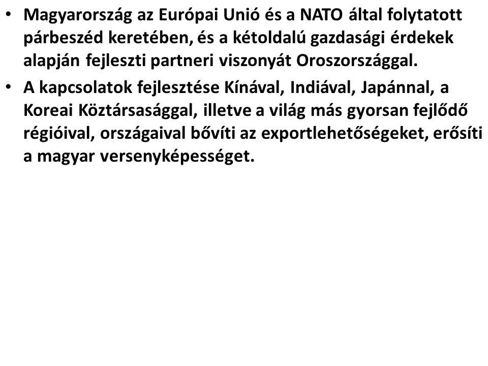 Magyarország az Európai Unió és a NATO által folytatott párbeszéd keretében, és a kétoldalú gazdasági érdekek alapján fejleszti partneri viszonyát Oro
