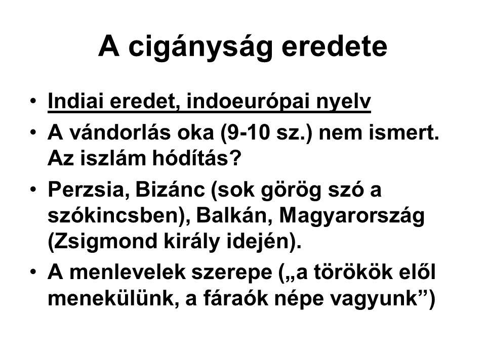 Társadalmi problémák Munkahelyi diszkrimináció Lakóhelyi és iskolai szegregáció.