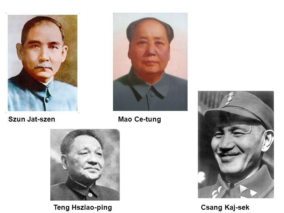 Szun Jat-szen Csang Kaj-sek Mao Ce-tung Teng Hsziao-ping
