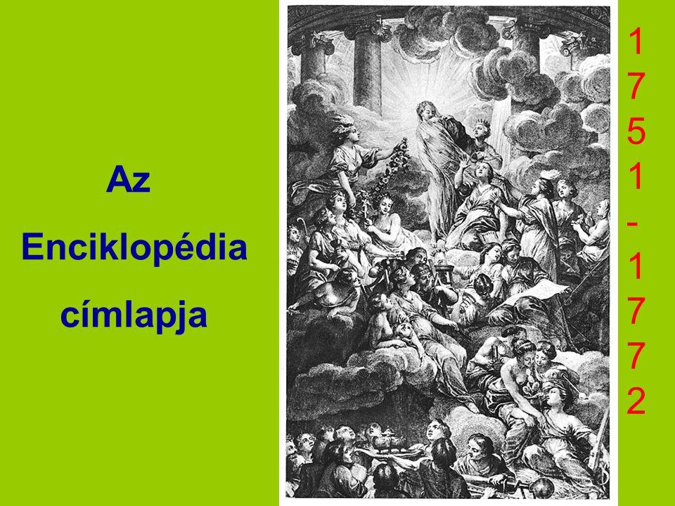 Az Enciklopédia címlapja 1751-17721751-1772