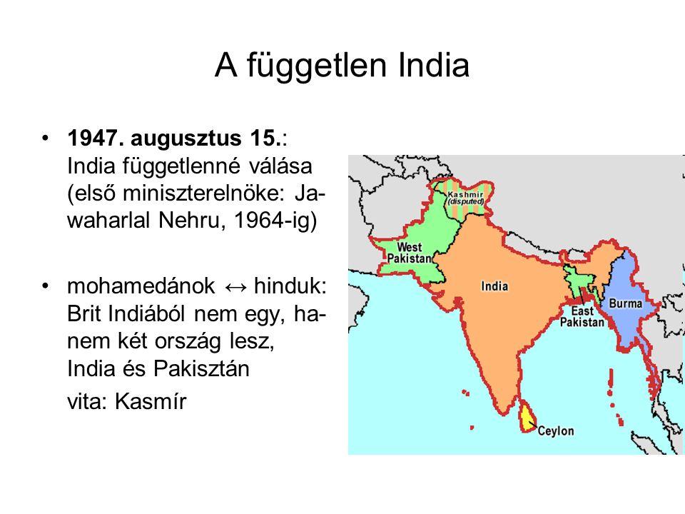 A független India 1947.