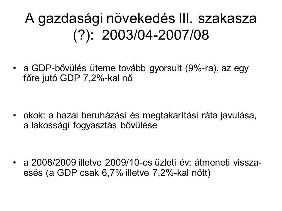 A gazdasági növekedés III.