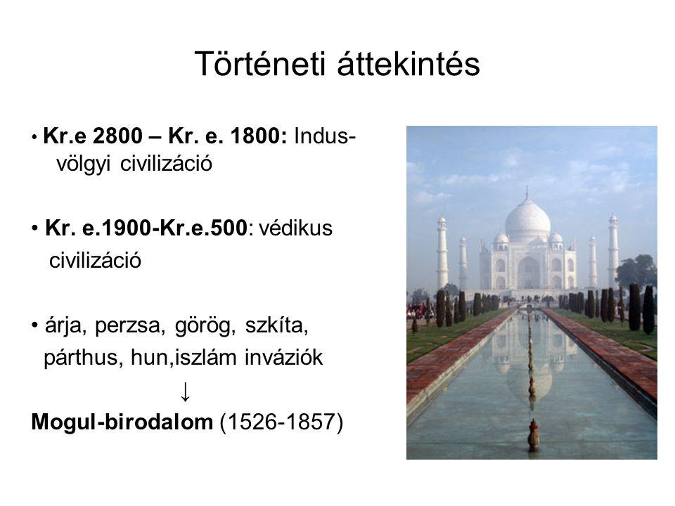 Történeti áttekintés Kr.e 2800 – Kr.e. 1800: Indus- völgyi civilizáció Kr.