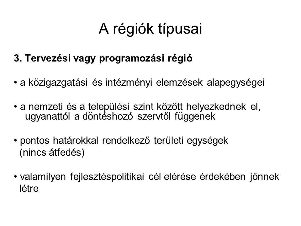 A régiók típusai 3.