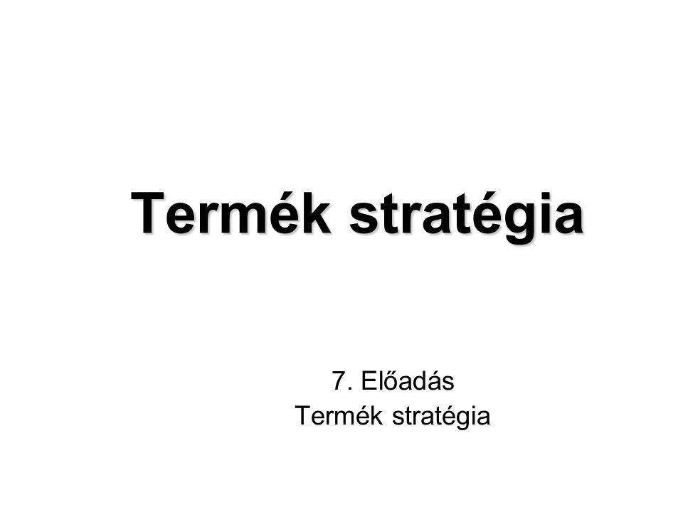 Termék stratégia Termék stratégia 7. Előadás Termék stratégia