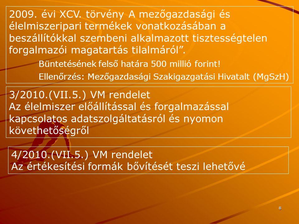19 Különleges magyar agrártermékek Hungaricumok A hazai termelési kultúrához, tudáshoz, a generációk során kialakított hagyományokhoz kapcsolódó magyar sajátosságú agrártermék.