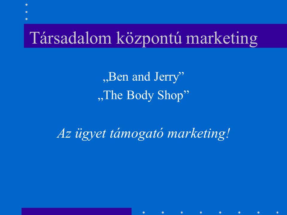 """Társadalom központú marketing """"Ben and Jerry"""" """"The Body Shop"""" Az ügyet támogató marketing!"""