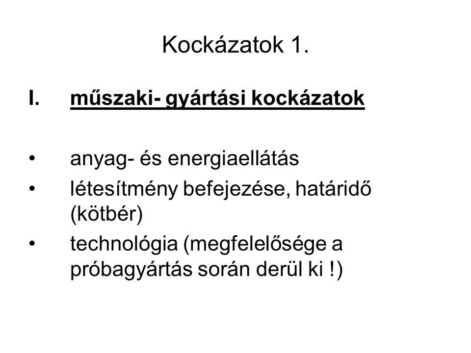 Kockázatok 1.