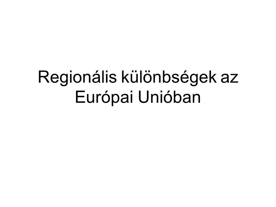 Regionális különbségek az Európai Unióban
