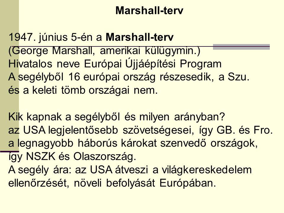 Marshall-terv 1947.