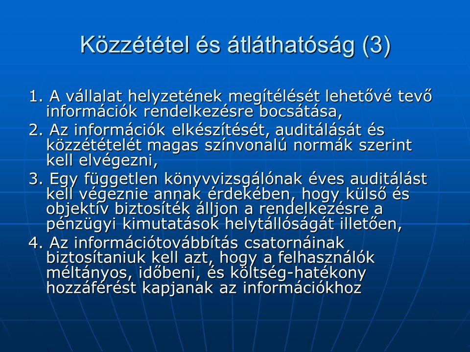 Közzététel és átláthatóság (3) 1.