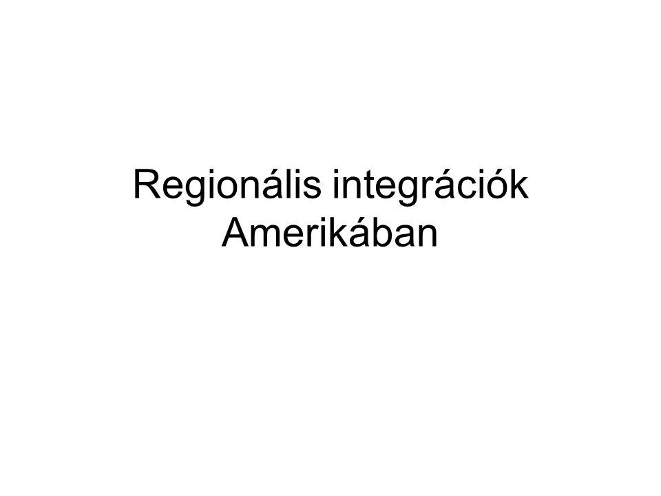 Regionális integrációk Amerikában