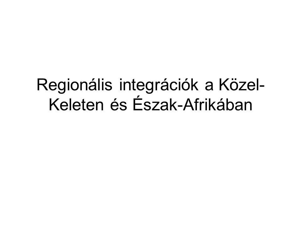Regionális integrációk a Közel- Keleten és Észak-Afrikában