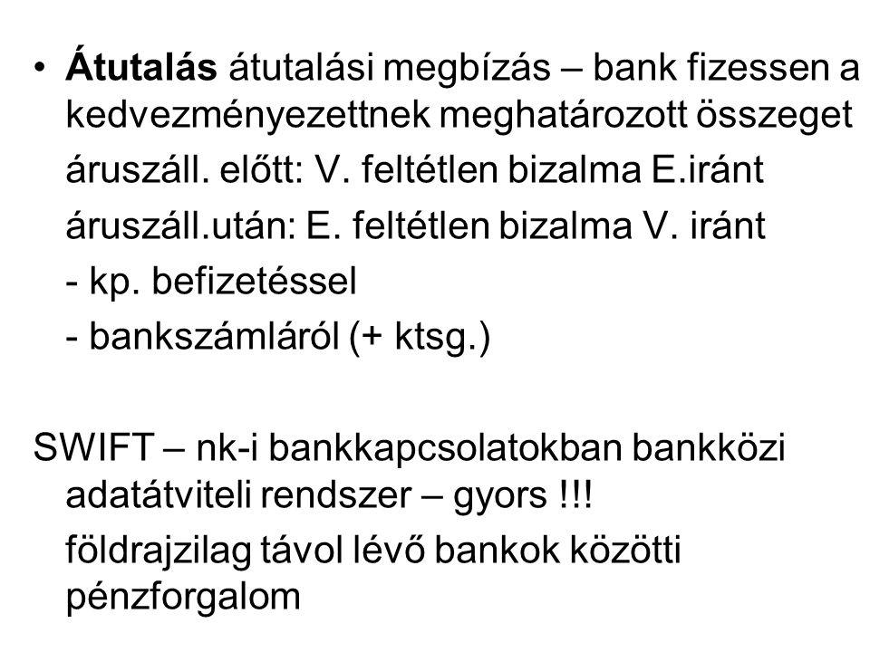 Átutalás átutalási megbízás – bank fizessen a kedvezményezettnek meghatározott összeget áruszáll.