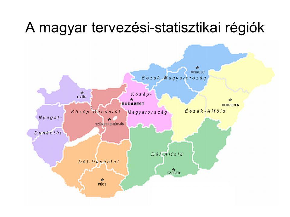 A magyar tervezési-statisztikai régiók