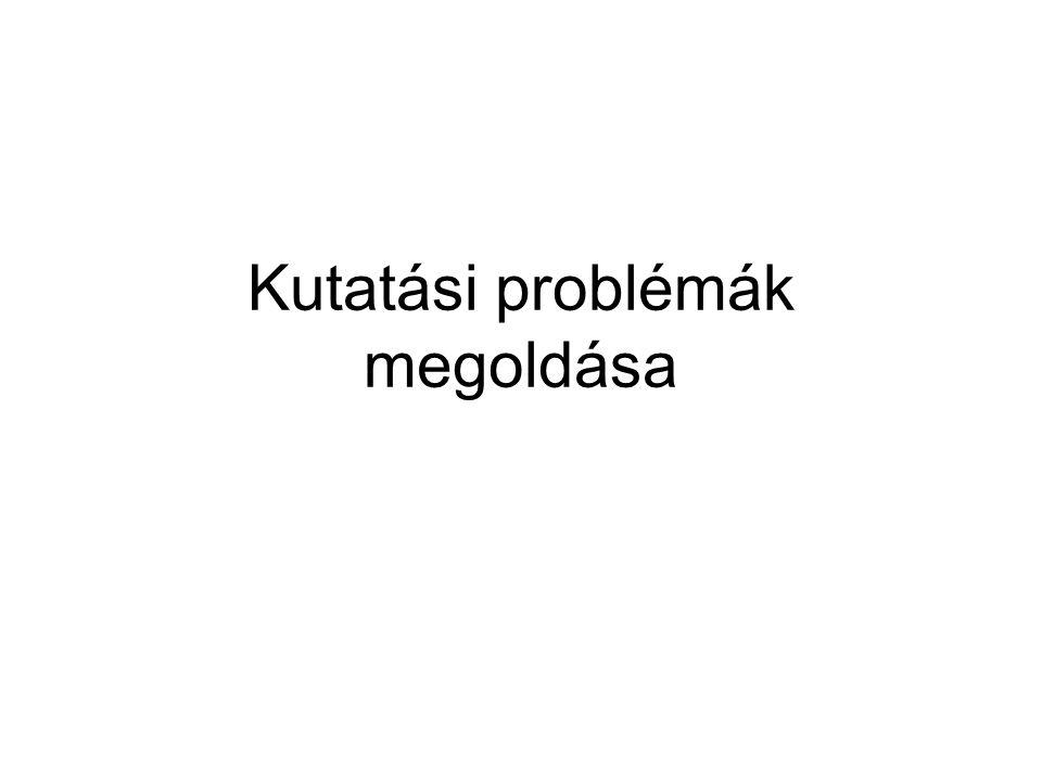 Kutatási problémák megoldása