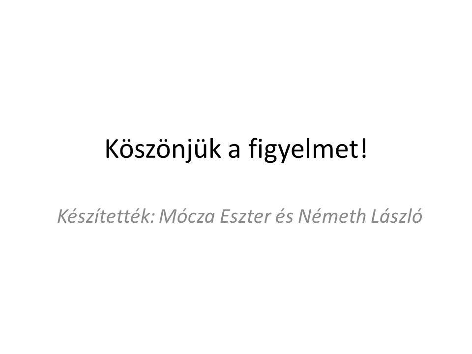 Köszönjük a figyelmet! Készítették: Mócza Eszter és Németh László