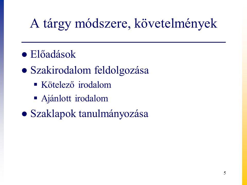 Kötelező irodalom ● Botos Balázs: Válságkezelés és protekcionizmus.
