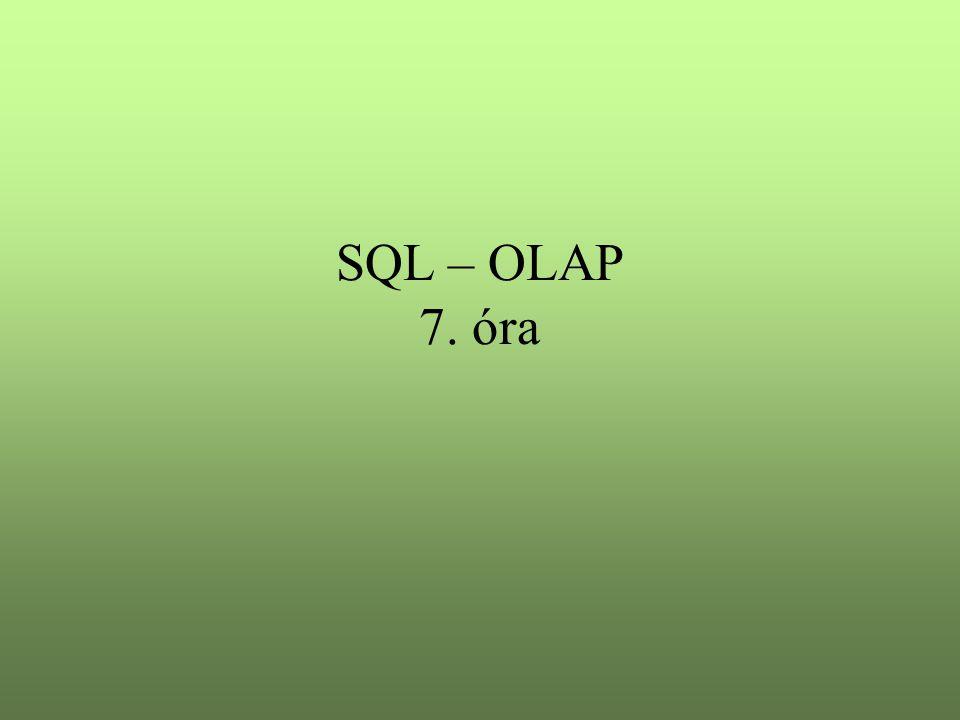 SQL – OLAP 7. óra