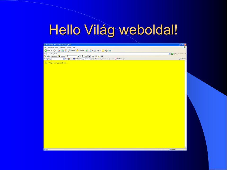 Hello Világ weboldal!