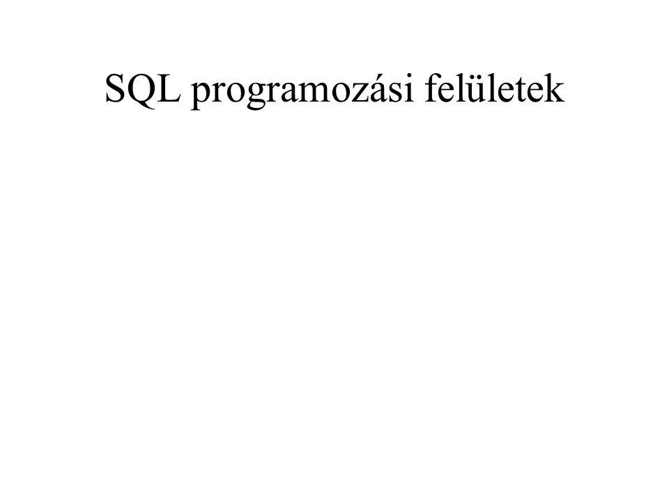 SQL programozási felületek