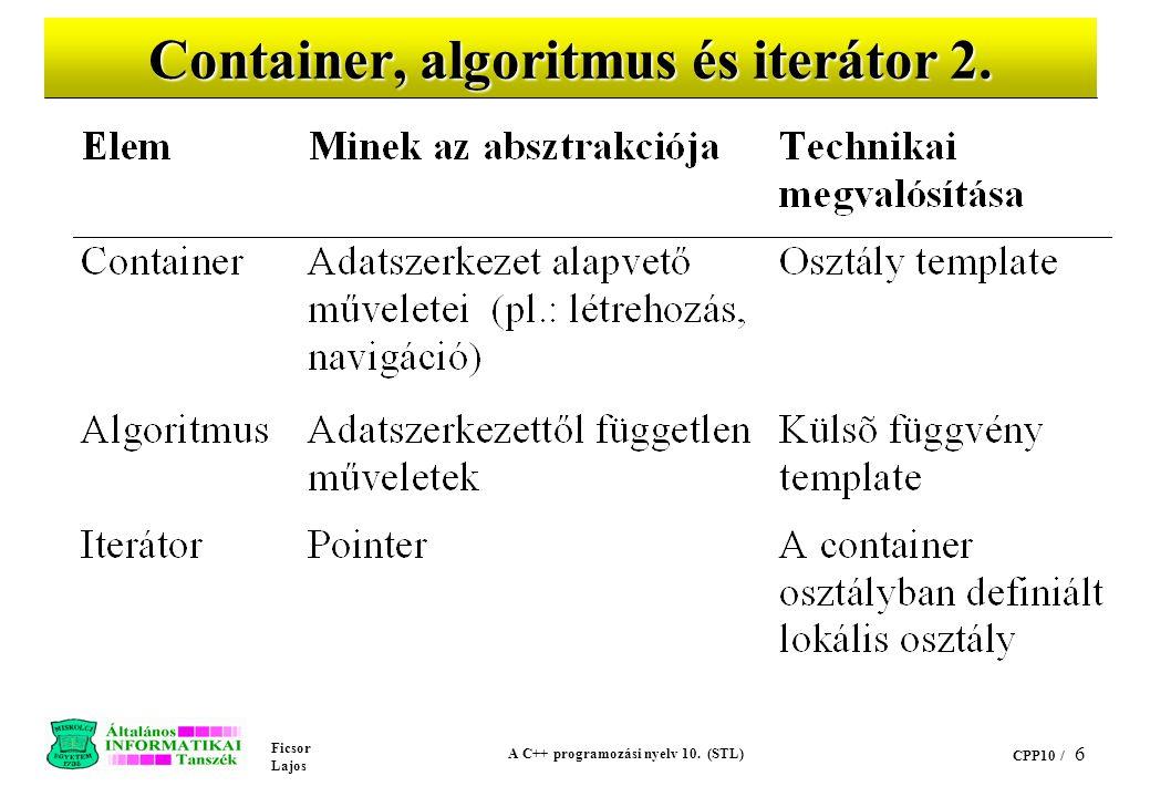 Ficsor Lajos A C++ programozási nyelv 10.