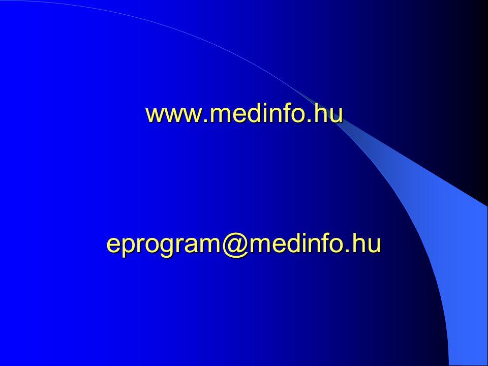 www.medinfo.hu eprogram@medinfo.hu