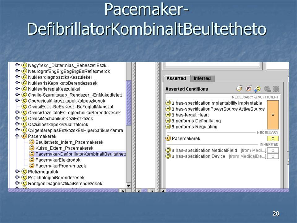 20 Pacemaker- DefibrillatorKombinaltBeultetheto