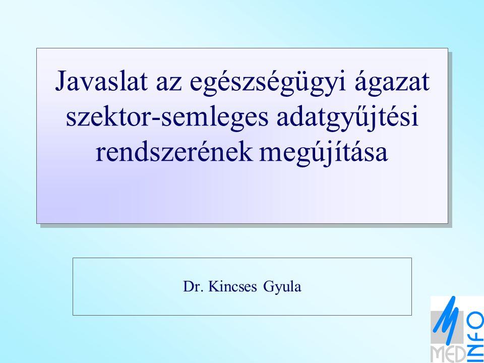 Javaslat az egészségügyi ágazat szektor-semleges adatgyűjtési rendszerének megújítása Dr. Kincses Gyula