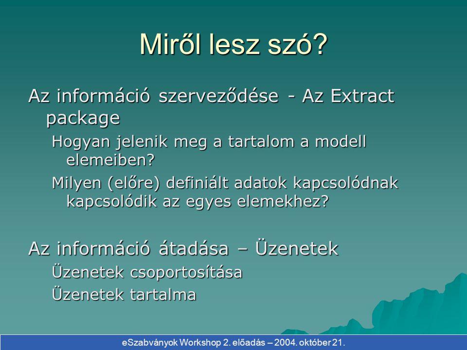 eSzabványok Workshop 2.előadás – 2004. október 21.