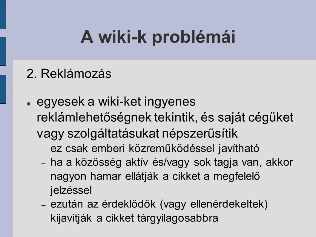 A wiki-k problémái 2.