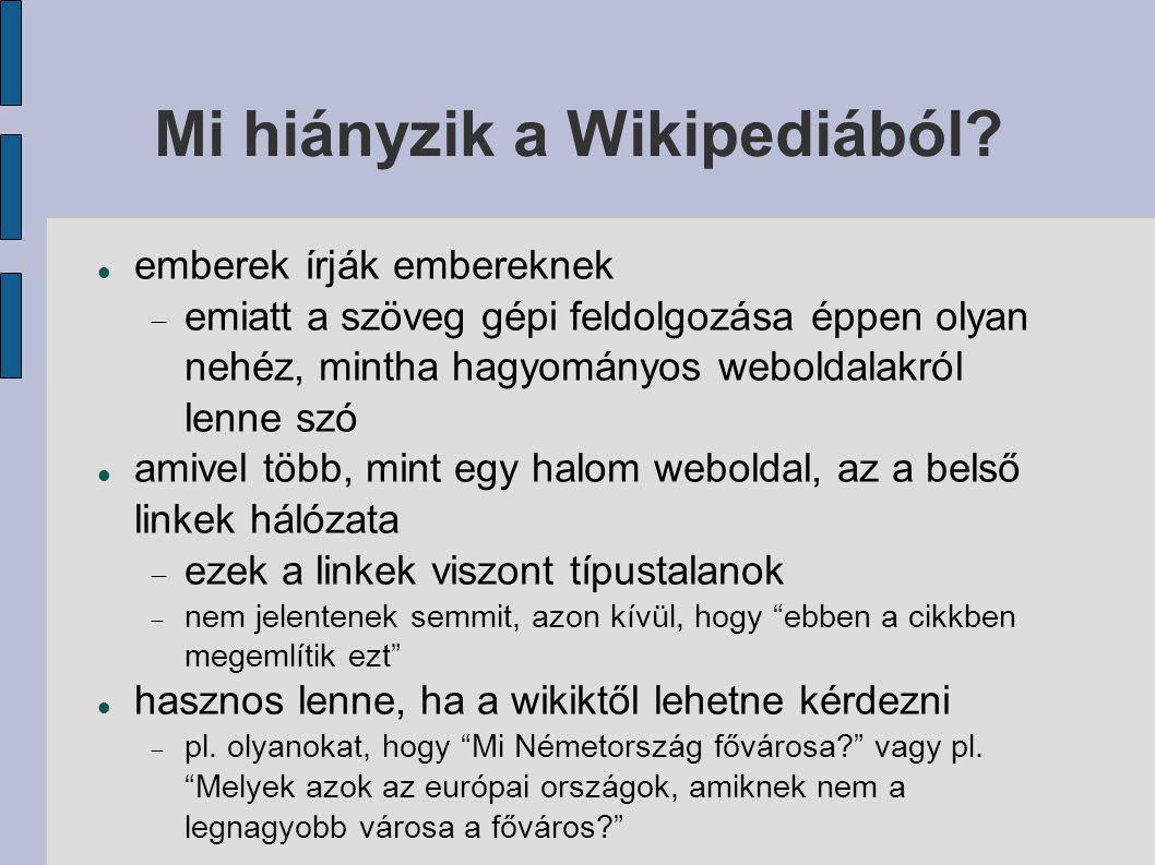 Mi hiányzik a Wikipediából.
