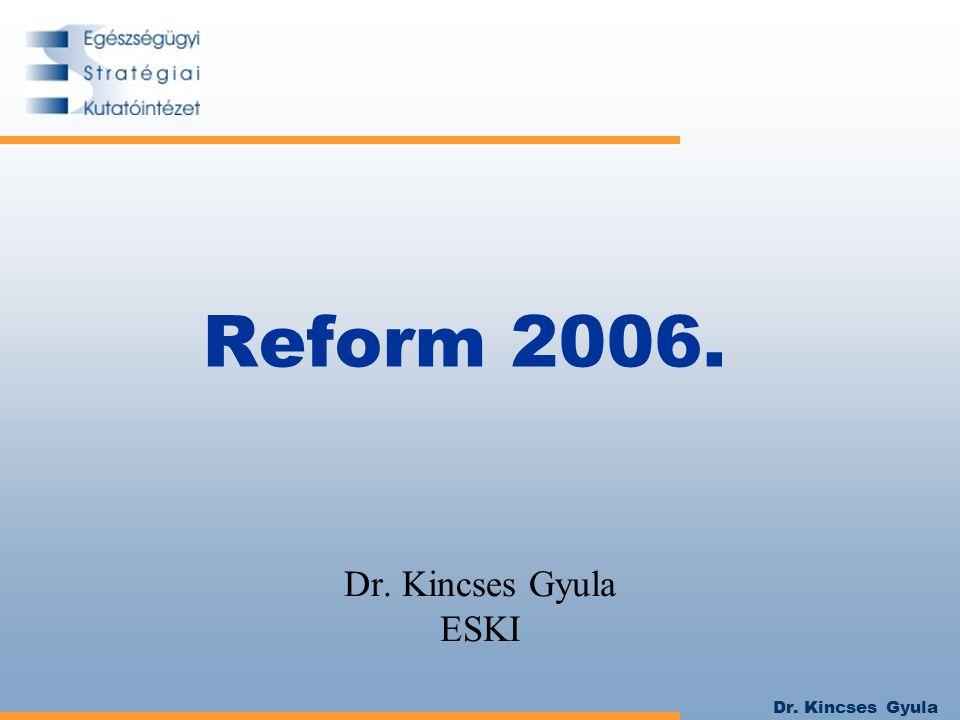 Dr. Kincses Gyula Reform 2006. Dr. Kincses Gyula ESKI