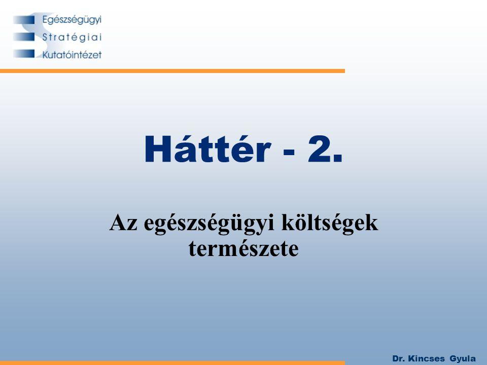 Dr. Kincses Gyula Háttér - 2. Az egészségügyi költségek természete