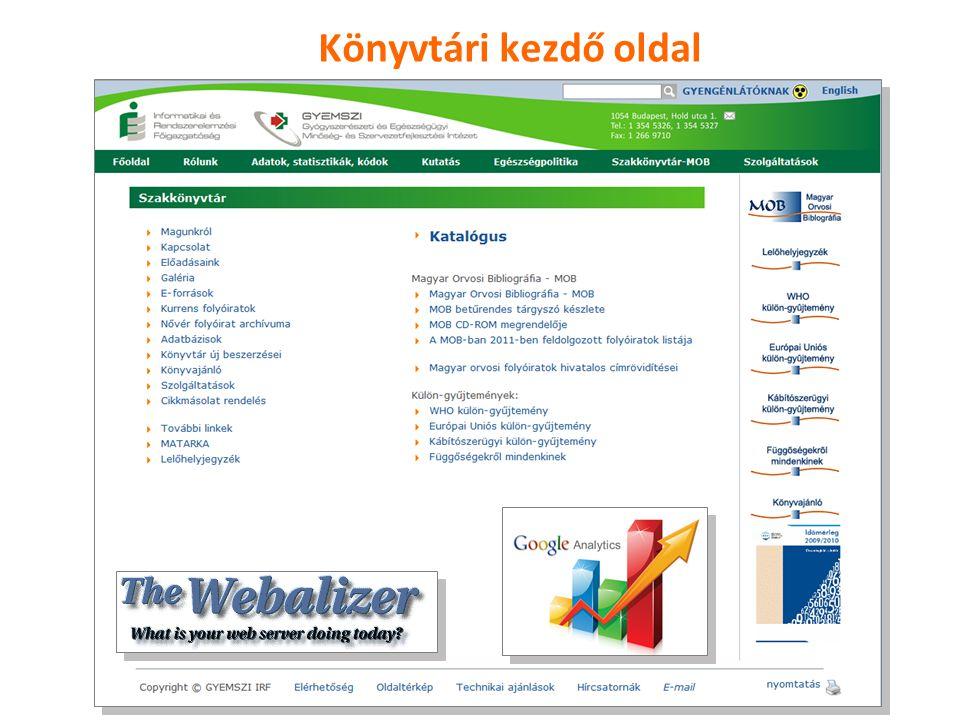 4 ESKI honlap látogatottsági statisztikája Időszak: 2010.01.01.- 2010.12.31.