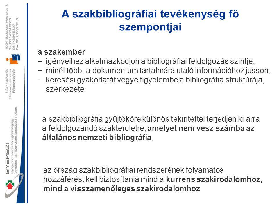 Az első magyar orvostudományi bibliográfiák Weszprémi István (1723-1799) Magyarország és Erdély orvosainak négykötetes életrajza 1774 és 1787 között Lipcsében és Bécsben jelent meg Succinta Medicorum Hungariae et Transilvaniae Biographia