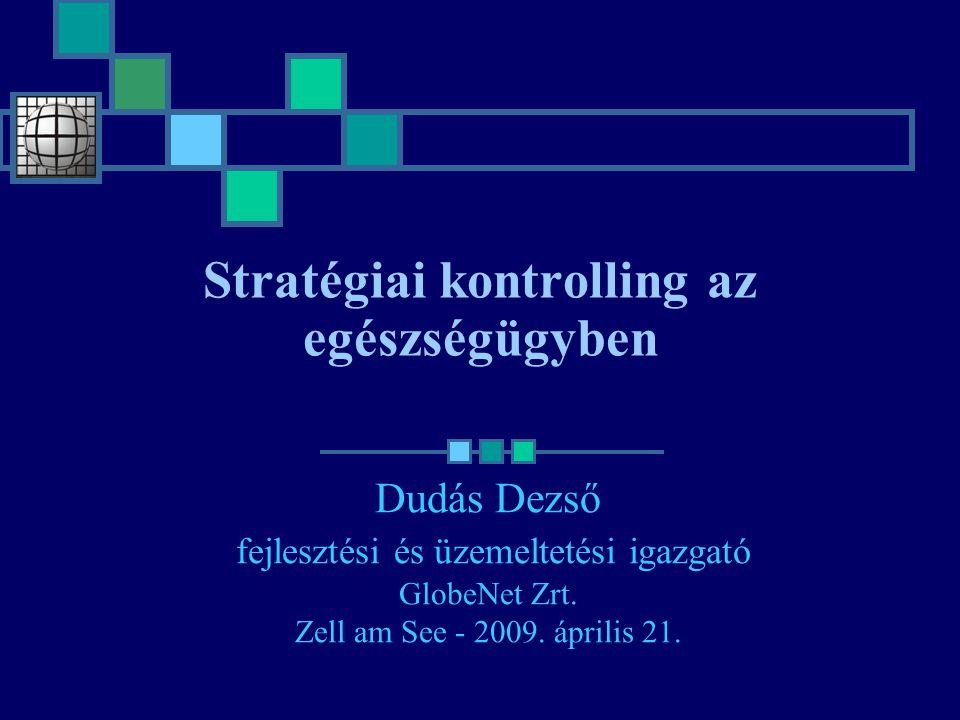 Stratégiai kontrolling az egészségügyben Dudás Dezső fejlesztési és üzemeltetési igazgató GlobeNet Zrt. Zell am See - 2009. április 21.