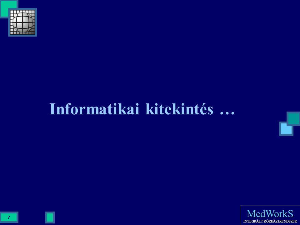 MedWorkS INTEGRÁLT KÓRHÁZI RENDSZER 7 Informatikai kitekintés …