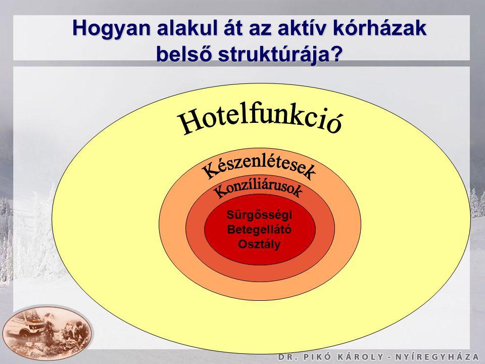 Sürgősségi Betegellátó Osztály Hogyan alakul át az aktív kórházak belső struktúrája?