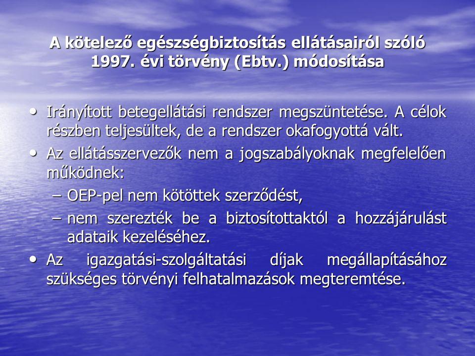 A kötelező egészségbiztosítás ellátásairól szóló 1997.