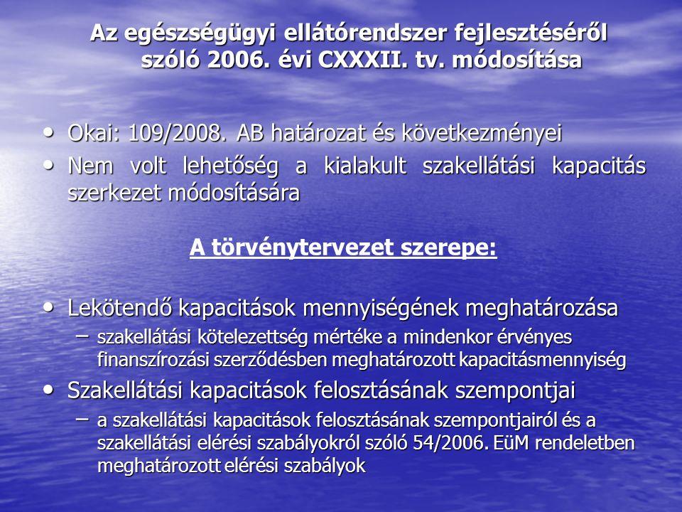 Az egészségügyi ellátórendszer fejlesztéséről szóló 2006.