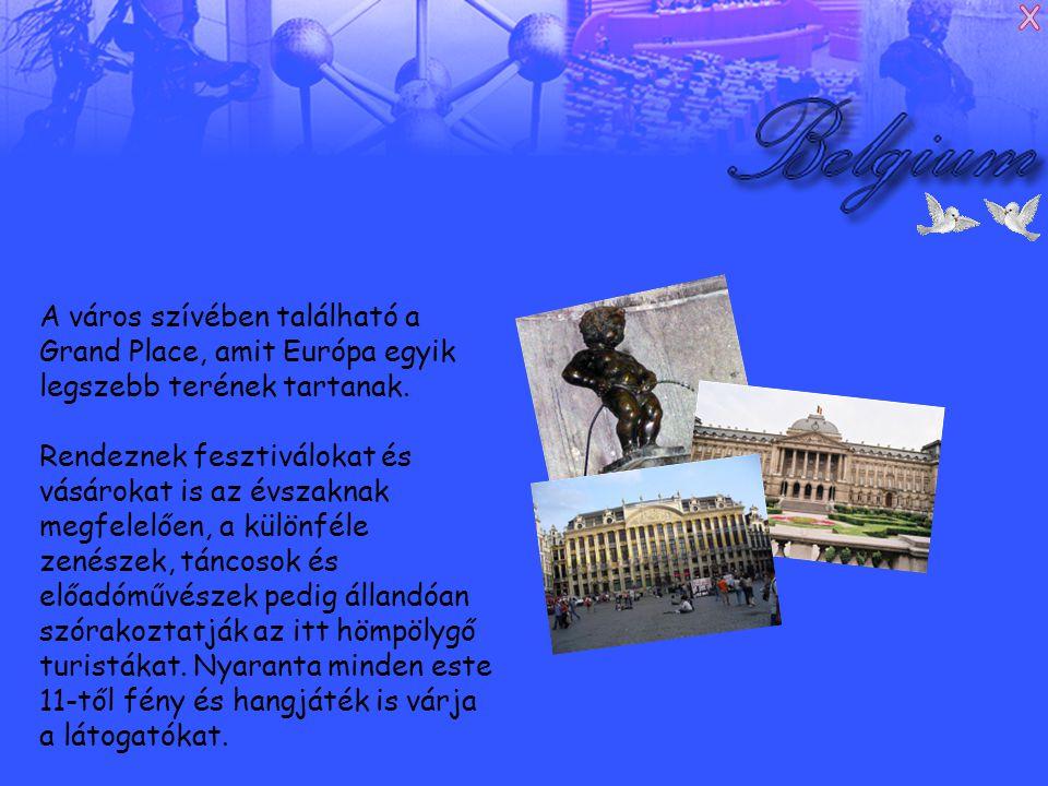 A város szívében található a Grand Place, amit Európa egyik legszebb terének tartanak.