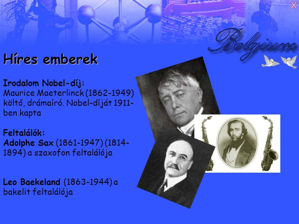 Híres emberek Irodalom Nobel-díj: Maurice Maeterlinck (1862-1949) költő, drámaíró.