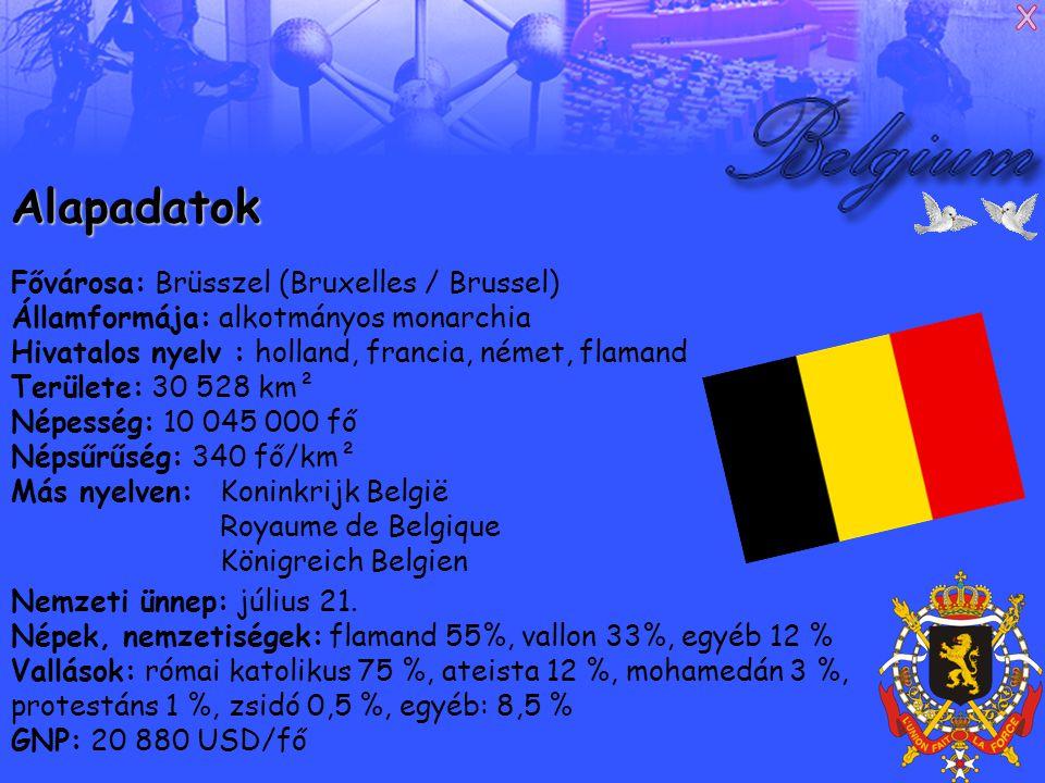 Francia változat Ô Belgique, ô mere chérie, A toi nos cours, a toi nos bras, A toi notre sang, ô Patrie .