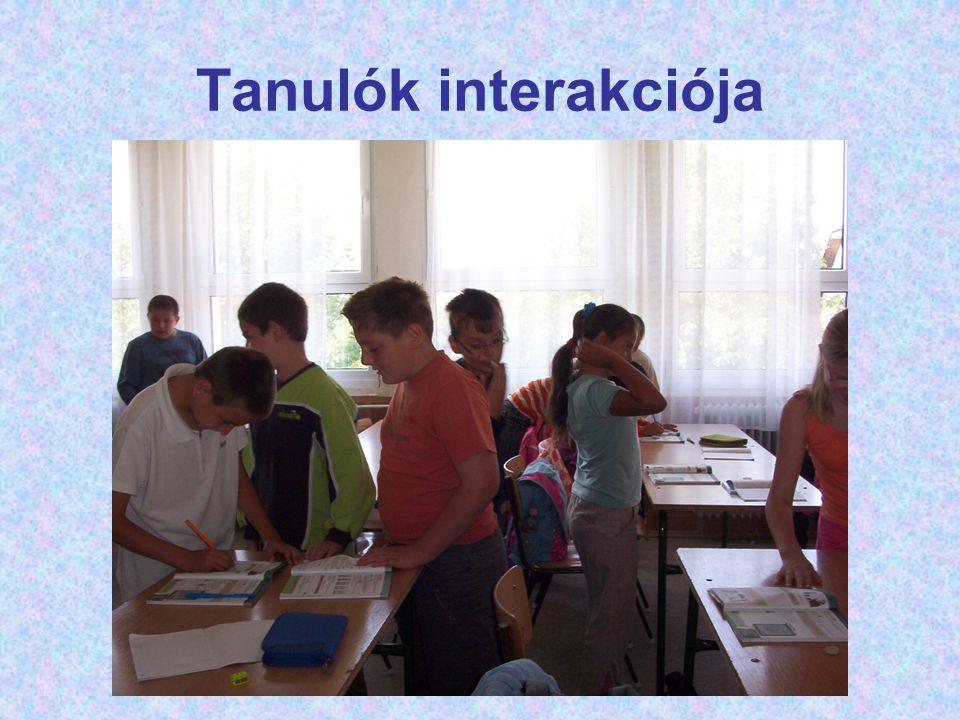 Tanulók interakciója