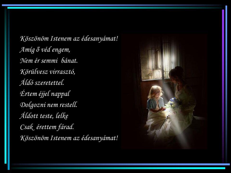 Szomorú lesz szívem, Ha nem leszel velem. Nálad jobb édesanyát Nem adott senkinek az Isten!