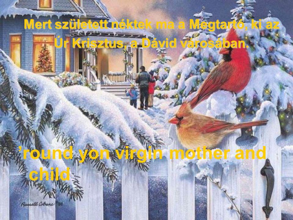 És monda az angyal nékik: Ne féljetek, mert ímé hirdetek néktek nagy örömet, mely az egész népnek öröme lészen: All is calm, all is bright.