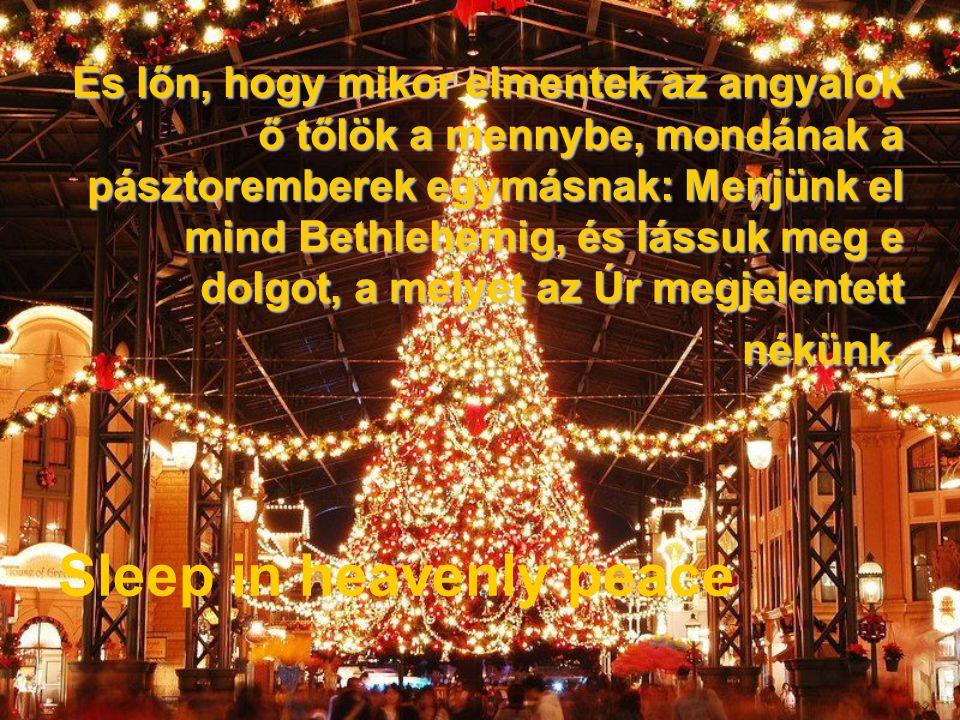 És lőn, hogy mikor elmentek az angyalok ő tőlök a mennybe, mondának a pásztoremberek egymásnak: Menjünk el mind Bethlehemig, és lássuk meg e dolgot, a melyet az Úr megjelentett nékünk.