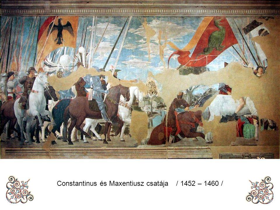 Arezzo A kereszt megtalálása / 1452 – 1460 /