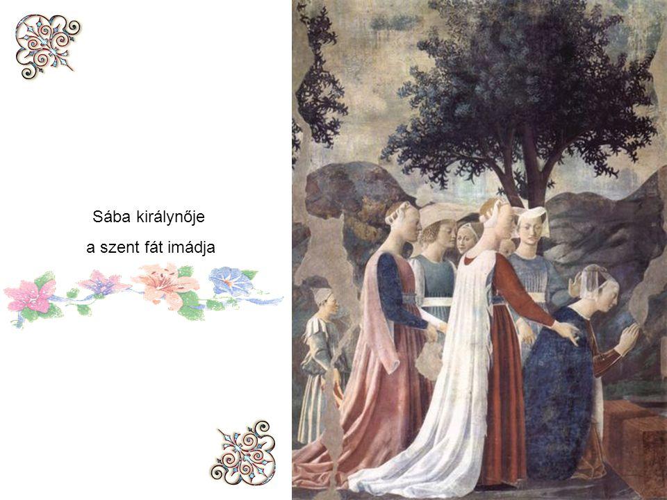Sába királynője a szent fát imádja